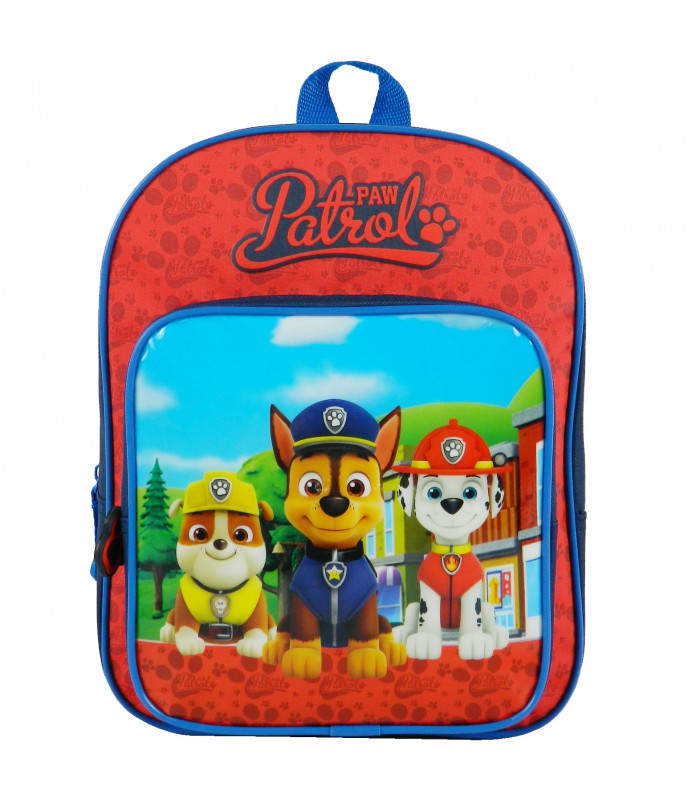 Sac A Dos Gouter Maternelle 31 Cm Paw Patrol Bleu Marine Et Rouge Nickelodeon