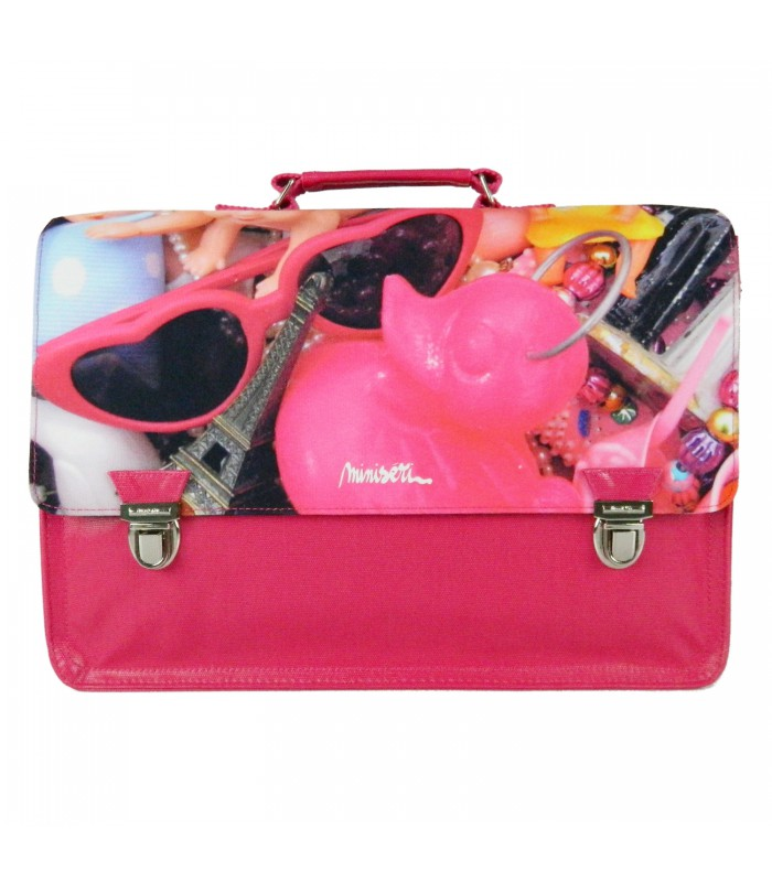Cartable Miniséri 39cm Rose