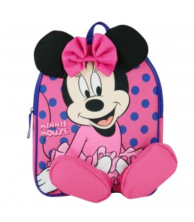 Sac A Dos Gouter Maternelle Cartable Minnie Rose Disney