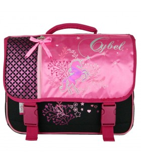 Cartable Cybel Cheval Licorne 38cm Rose