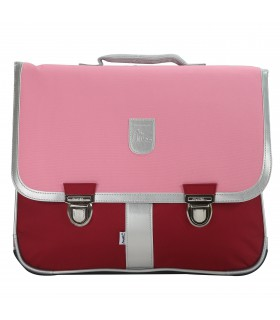 Cartable 39,5cm Miniséri Rose/Bordeaux