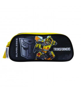 TROUSSES SCOLAIRE 2 COMPARTIMENTS NOIR-TRANSFORMERS