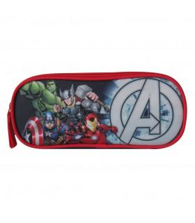 Trousse scolaire 2 compartiments Avengers Bleu marine
